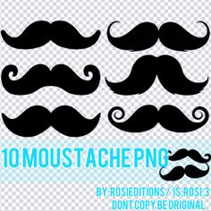 Moustache png by !RosiEditions on deviantART