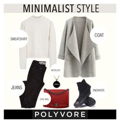 """""""Minimalist"""" by julietacelina ❤ liked on Polyvore featuring Acne Studios, Chanel and Converse"""