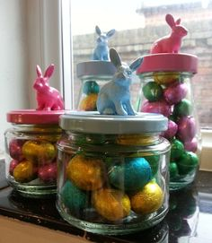 How to make a easy simple easter in a jar present at the last how to make a easy simple easter in a jar present at the last minute easter reuse and tutorials negle Images