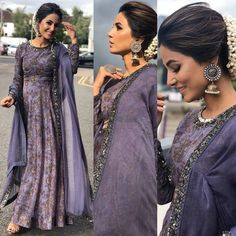 Yay or Nay Hina Khan in London at charity event . Outfit Jewellery Heels Styled By . Indian Bridal Lehenga, Indian Gowns, Indian Attire, Pakistani Dresses, Indian Outfits, Anarkali Dress, Lehenga Choli, Sabyasachi Sarees, Indian Designer Outfits