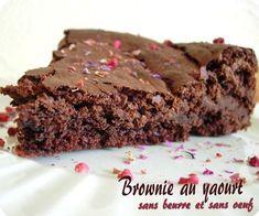 Brownie au yaourt, sans oeuf et sans beurre