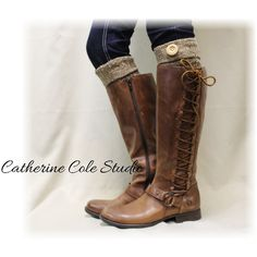 Aspen Cuffs Brown Boot Cuffs Boot Toppers Mini Leg Warmers Boot Cuffs... ($16) ❤ liked on Polyvore featuring intimates, hosiery, boot socks & cuffs, brown, women's clothing, knit leg warmers, leg warmers, browning hosiery, long leg warmers and hanes hosiery