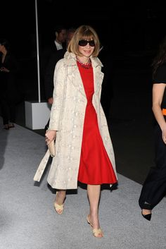 Anna Wintour attends the Christian Dior Cruise 2015 show