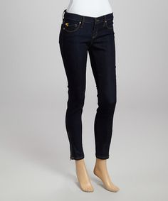 Yoga jeans?  YES PLEASE!  Another great find on #zulily! Indigo Low-Rise Skinny Jeans by Yoga Jeans #zulilyfinds