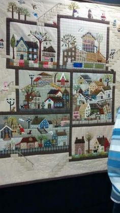 House Quilt Patterns, House Quilt Block, Patchwork Quilt Patterns, Applique Quilts, Quilt Blocks, Colchas Quilting, Quilting Projects, Small Quilts, Mini Quilts