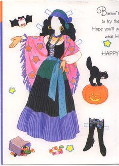 Tarjeta de Halloween Barbie # 2