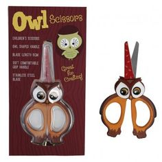 Owl Scissors (They look furious!)