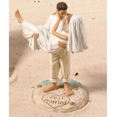 Beach Wedding Theme Bride and Groom Wedding Cake Topper #NutritionTheme