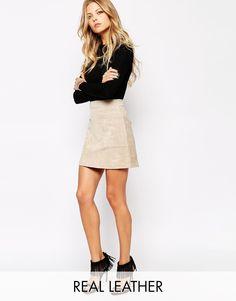 Mango 70's Suede Mini Skirt