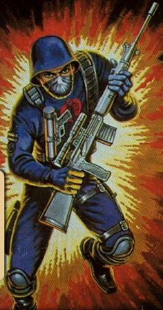 Before Cobra started to have more specialized personnel, there were the Cobra Troopers. These men served as the basic infantrymen of Cobra. Each man swore absolute loyalty to Cobra Commander. While serving as the infantrymen of the organization, they are also cross-trained to be proficient in least two other support skills. The lot of what makes up the Trooper forces are mercenaries, criminals and people who are angry at the world who have taken up Cobra's offer of wealth and power.