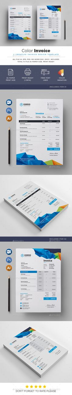 Invoice Bundle Print, Stationery and Template - how to print invoices