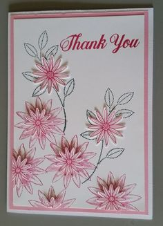 Thank You Card - Designed by Sandy using Stampin Up Grateful Bunch stamp set, punches & Inks.