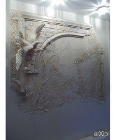 Decorative Plaster, Plaster Art, Plaster Walls, Mural Painting, Mural Art, Wall Murals, Interior Walls, Interior Design Living Room, Wall Sculptures