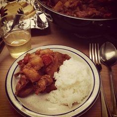 Spicy chicken stew (Korean style)