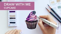 Dessin de cupcake avec des marqueurs Spectrum Noir