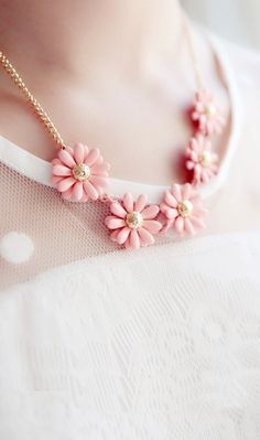Cute Cheap Retro candy colored daisies short necklace - Necklaces Online Shopping Free Shipping a1083379294