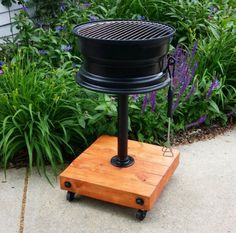 A simple charcoal grill is not hard to make depending on the design you want to use. One design that is really awesome for a deck is a DIY tire rim griller.