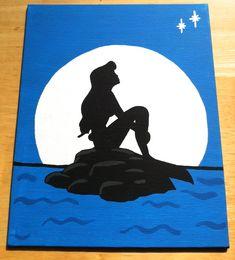 Simplistic Little Mermaid Painting