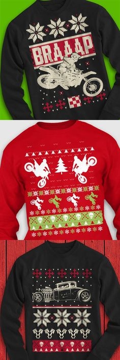 Super popular Ugly Christmas Sweater Tees. They look like sweaters but they're really super soft Gildan long sleeve t-shirts. Cool enough to go from an Ugly Sweater Party to school or work or just about any time during the Christmas season. They make great stocking stuffers too! Order a few at this link. https://teespring.com/stores/the-christmas-tee-shop?pr=PINFS - Tap The Link Now Find that Perfect Gift