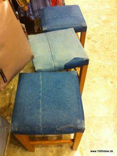 Betræk til skamler – genbrug af de gamle jeans