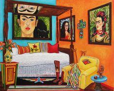 Mexican Art Frida Kahlo Frida Kahlo Oil by kMadisonMooreFineArt