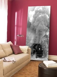Wall Paintings  - Pin it :-) Follow us, CLICK IMAGE TWICE for Pricing and Info . SEE A LARGER SELECTION of wall paintings at http://azgiftideas.com/product-category/wall-paintings/  - gift ideas, house warming gift ideas, home decor -   Steam Train Canvas Wall Art Print, 5 Stars Gift 23.62 X 47.2 Inch