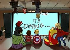 I don't even care what they're watching. Look at Bucky and Clint!