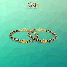Baby Lil black beads bangle