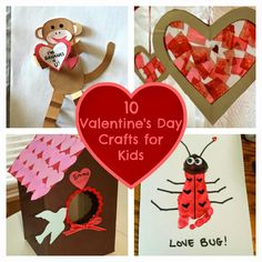 Are your kids getting excited about Valentine's Day yet? My daughter, Sophie LOVES everything about Valentine's Day and every year, we try to do a special craft. Last year, we made this… Valentine's Day Crafts For Kids, Daycare Crafts, Classroom Crafts, Baby Crafts, Crafts To Do, Preschool Crafts, Art For Kids, Kids Fun, Valentines Day Party