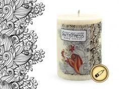 relaxační vonná svíčka Antistress - Dětská bavlna Pillar Candles, Taper Candles, Candles