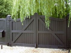 Double wooden gates