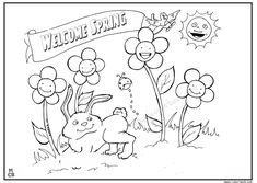 Welcome Spring Coloring Pages 0 4