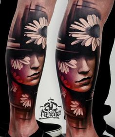 To be able to get a wonderfully made tattoo, you would need the help of a good tattoo artist. The 3D effect in this portrait design could be hard to achieve so be sure you speak with your artist first.