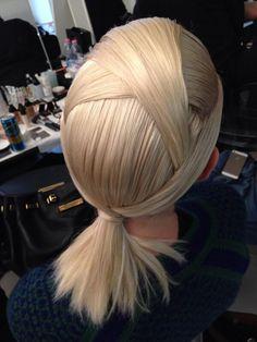 The origami hair at #Fendi by hair stylist Sam McKnight #MFW