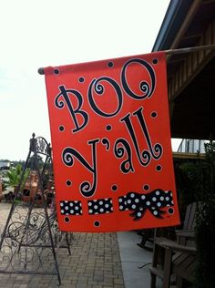 Only in the South.  LOL!   Fall Halloween flag