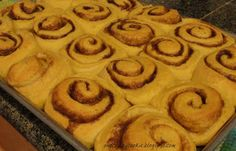 One Crazy Cookie: Pumpkin Cinnamon Rolls With Caramel Frosting