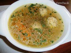 Pečeňové knedličky (fotorecept) - Recept Russian Recipes, Food And Drink, Soup, Polish, Ethnic Recipes, Vitreous Enamel, Soups, Nail, Nail Polish