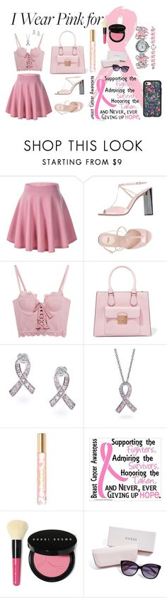 """""""I Wear Pink For... my grandmother"""" by oceanrose92 on Polyvore featuring Fendi, Puma, MICHAEL Michael Kors, Bling Jewelry, Tory Burch, Bobbi Brown Cosmetics, GUESS, Casetify and breastcancerawareness"""