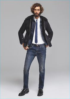 Maximiliano Patane shows a smart way to wears MAC Jeans' essential distressed denim.
