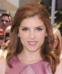 Emma May crowning or graduation dance.   Anna Kendrick Hairstyle: Casual Updo Medium Curly Hairstyle