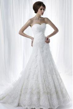 Unusual Wedding Dresses Sheath Sweetheart Made In Chiffon And Lace USD 259.99 LDPGMG16ST - LovingDresses.com