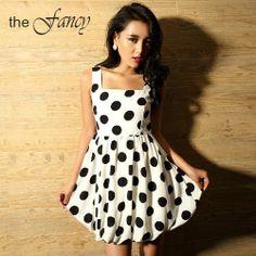 Envío gratis 2013 del mini vestido de la vendimia del estilo coreano sexy chica linda mujer ropa casual vivi moda nueva primavera verano