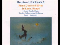 早坂文雄 ピアノ協奏曲第2楽章 第一楽章とは正反対の快活で軽快な曲。