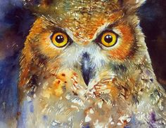 Owl Painting Art by Arti Chauhan Original Watercolor Bird Art Wall Decor Art Paintings For Sale, Modern Art Paintings, Original Paintings, Owl Paintings, Owl Watercolor, Watercolor Paintings, Painting Art, Owl Canvas, Woodland Art