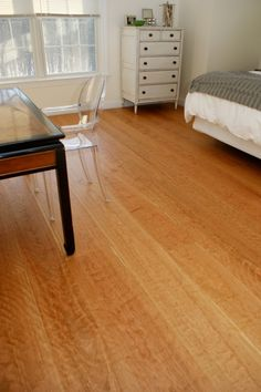 American Cherry wood flooring with figured grain.