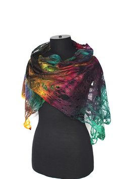 Cobweb Felted Scarf | Flickr - Photo Sharing!