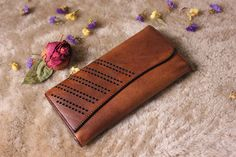 Valentine gifts for herleather wallet by MagicLeatherStudio
