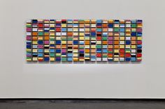Rebecca Baumann. Automated Colour Field (2011) 100 Flip-clocks, laser cut paper, batteries  Duration: 24 hrs