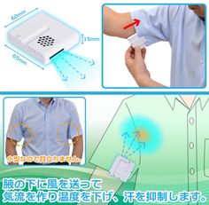 This armpit fan developed by Japanese company Thanko is supposed to be a high-tech alternative to deodorant. It kips your armpits dry by blasting cool air at them.