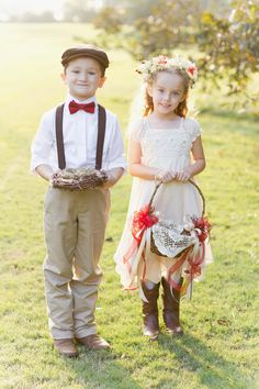 This flower girl and ring bearer just melted my heart. So southern, so Atlanta!